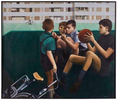 Match, 1970, Öl/LW, 105 x 125 cm
