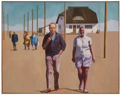 Spaziergang, 1990, Öl/ LW, 95 x 120 cm
